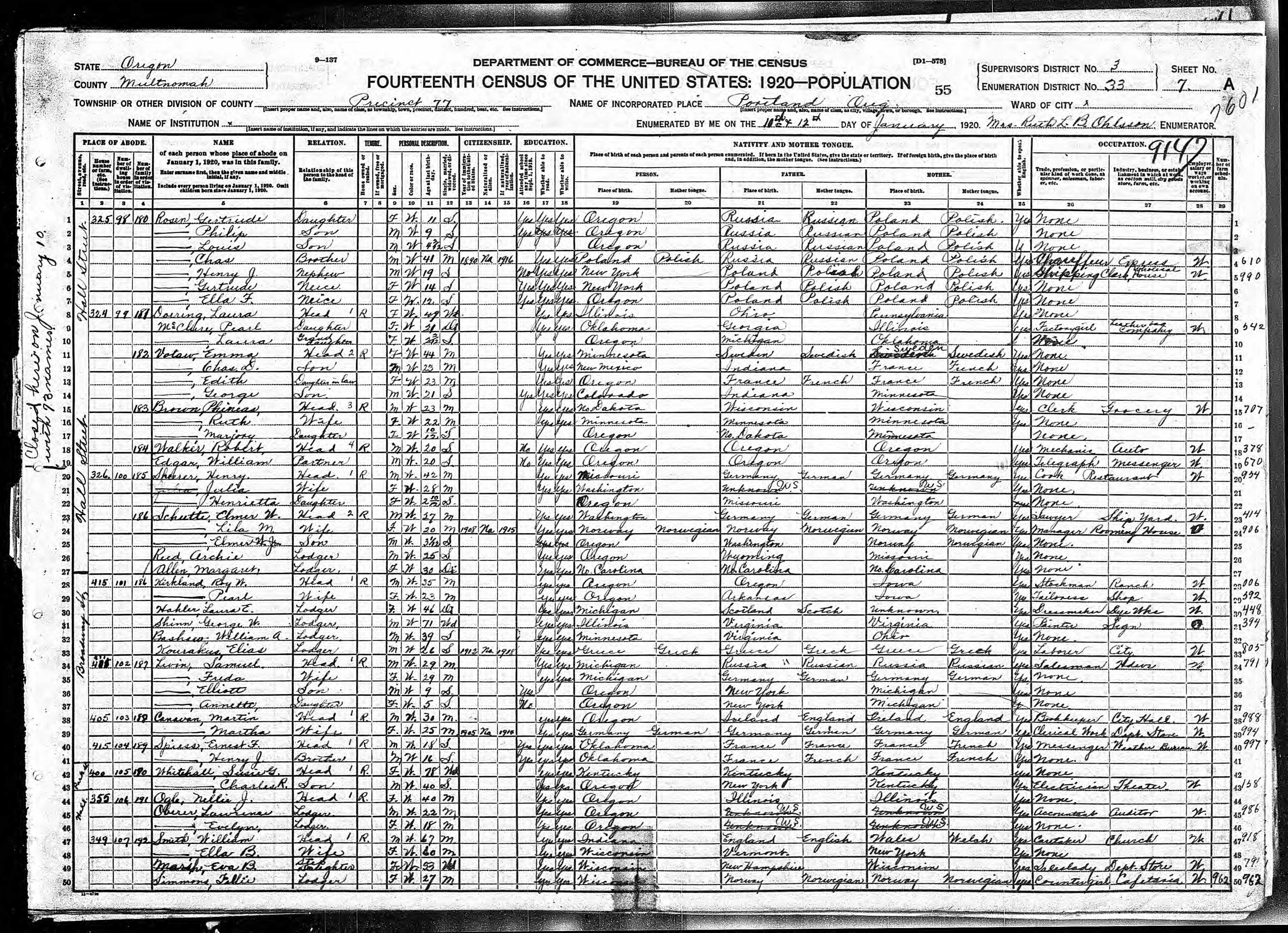 Descendents of henry george grabenhorst evelyn iowa grabenhorst lawrence oberer age 22 born in oregon lodger works as accountant for auditor evelyn oberer age 18 born in oregon lodger portland multnomah oregon roll aiddatafo Choice Image